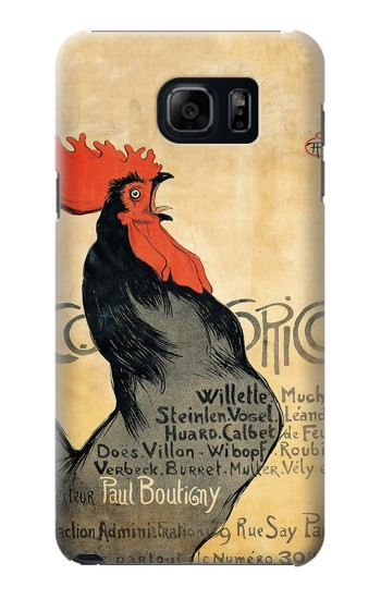 Printed Cocorico Rooster Vintage French Poster Samsung Galaxy S6 edge plus Case