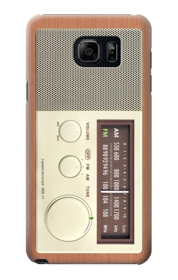 Printed FM AM Wooden Receiver Graphic Samsung Galaxy S6 edge plus Case