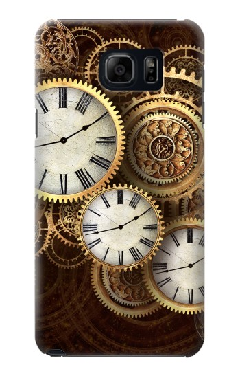 Printed Gold Clock Live Samsung Galaxy S6 edge plus Case