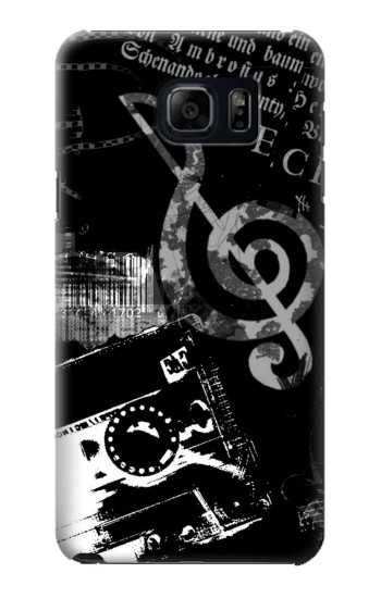 Printed Music Cassette Note Samsung Galaxy S6 edge plus Case