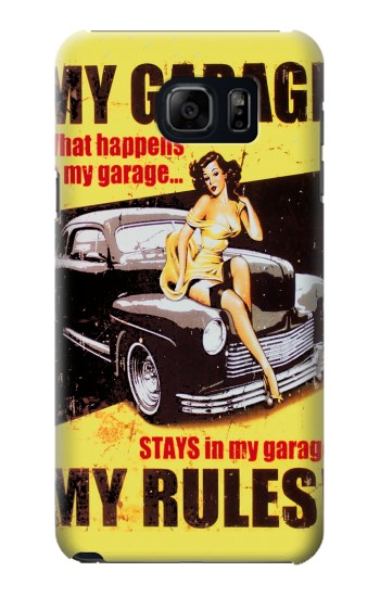 Printed My Garage Pinup Girl Samsung Galaxy S6 edge plus Case