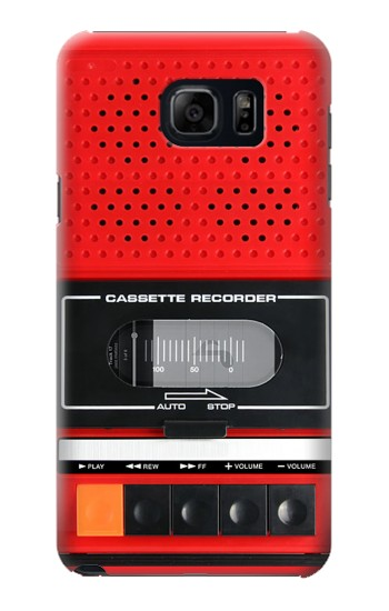 Printed Red Cassette Recorder Graphic Samsung Galaxy S6 edge plus Case
