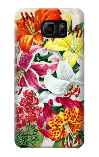 Printed Retro Art Flowers Samsung Galaxy S6 edge plus Case
