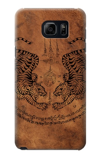 Printed Sak Yant Twin Tiger Samsung Galaxy S6 edge plus Case