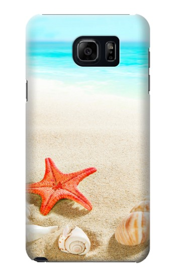 Printed Sea Shells Starfish Beach Samsung Galaxy S6 edge plus Case