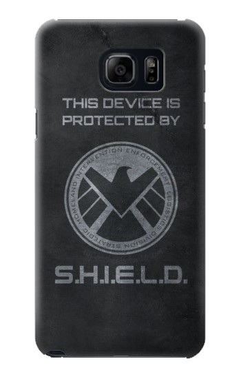 Printed This Device is Protected by Shield Samsung Galaxy S6 edge plus Case