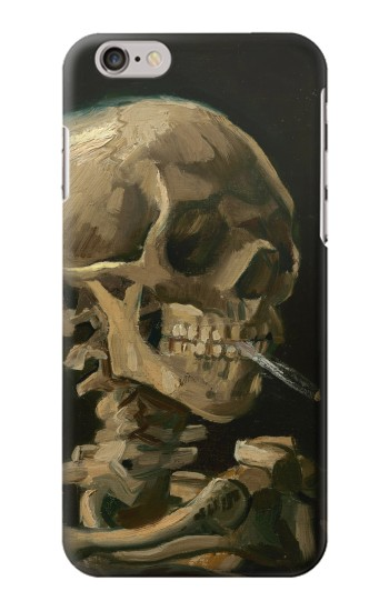 Printed Vincent Van Gogh Head Skeleton Cigarette Iphone 6s plus Case