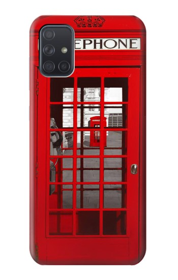 Printed Classic British Red Telephone Box Samsung Galaxy A71 5G Case