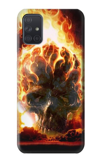 Printed Hell Fire Skull Samsung Galaxy A71 5G Case