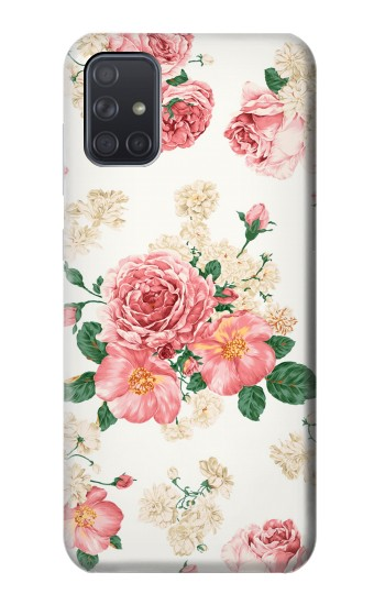 Printed Rose Pattern Samsung Galaxy A71 5G Case