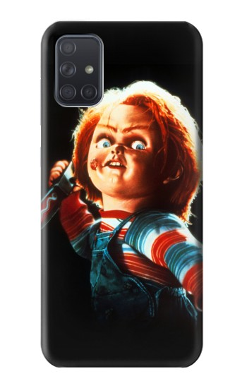 Printed Chucky With Knife Samsung Galaxy A71 5G Case
