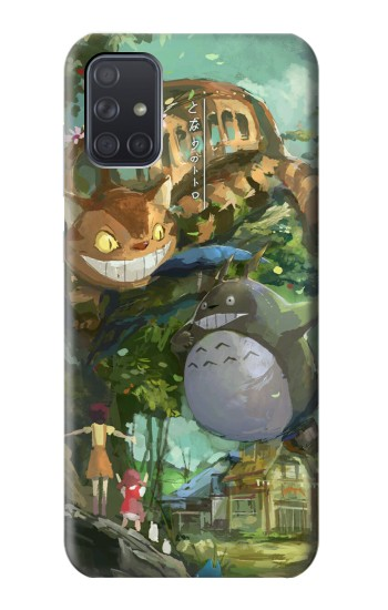 Printed My Neighbor Totoro Cat Bus Samsung Galaxy A71 5G Case