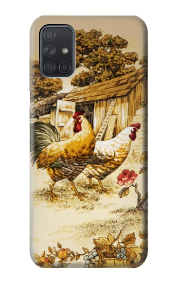 Printed French Country Chicken Samsung Galaxy A71 5G Case