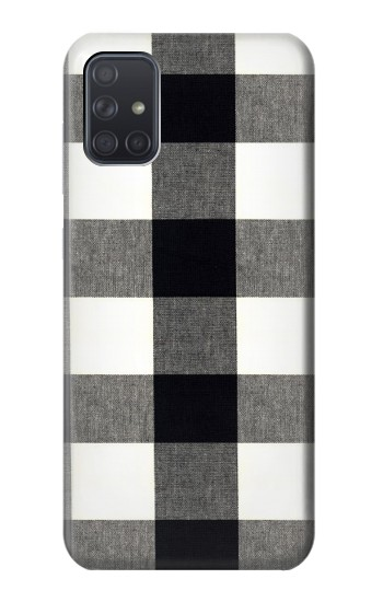 Printed Black and White Buffalo Check Pattern Samsung Galaxy A71 5G Case