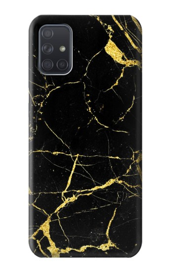 Printed Gold Marble Graphic Printed Samsung Galaxy A71 5G Case