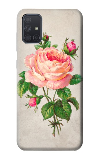 Printed Vintage Pink Rose Samsung Galaxy A71 5G Case