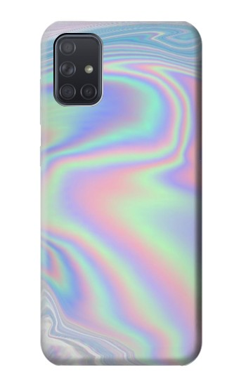 Printed Pastel Holographic Photo Printed Samsung Galaxy A71 5G Case
