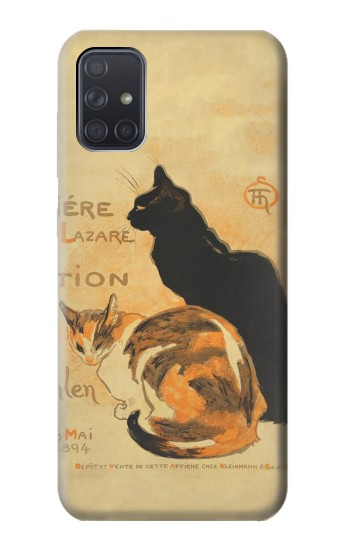 Printed Vintage Cat Poster Samsung Galaxy A71 5G Case