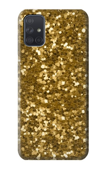 Printed Gold Glitter Graphic Print Samsung Galaxy A71 5G Case