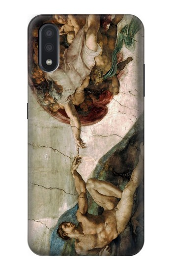 Printed Michelangelo The creation of Adam Samsung Galaxy A01 Case