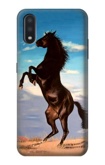 Printed Wild Black Horse Samsung Galaxy A01 Case