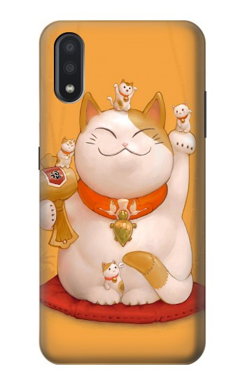 Printed Maneki Neko Lucky Cat Samsung Galaxy A01 Case