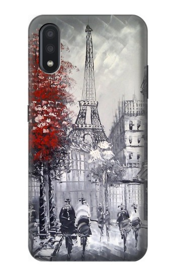 Printed Eiffel Painting of Paris Samsung Galaxy A01 Case
