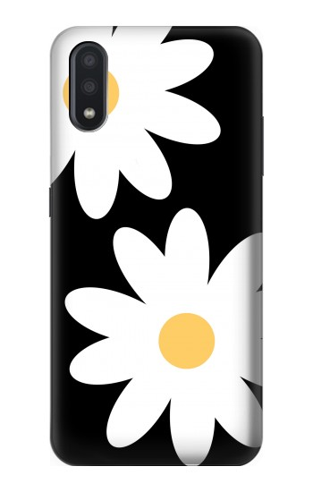Printed Daisy White Flowers Samsung Galaxy A01 Case