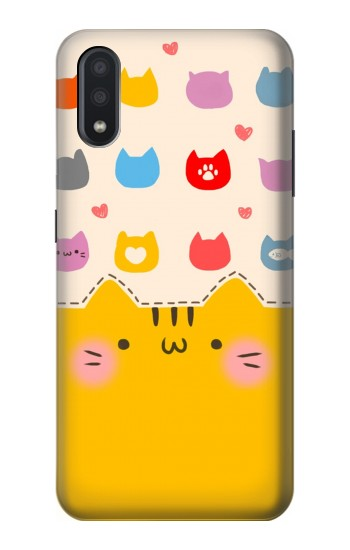 Printed Cute Cat Pattern Samsung Galaxy A01 Case