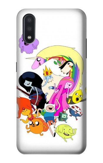 Printed Adventure Time Charactors Samsung Galaxy A01 Case
