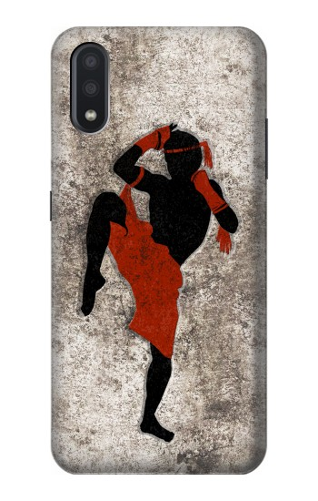 Printed Muay Thai Fight Boxing Samsung Galaxy A01 Case