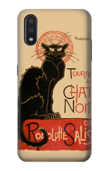 Printed Chat Noir The Black Cat Samsung Galaxy A01 Case
