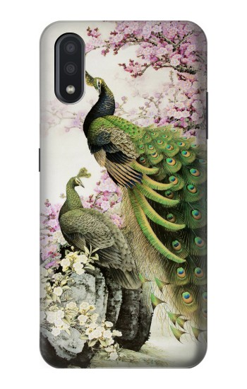 Printed Peacock Chinese Brush Painting Samsung Galaxy A01 Case