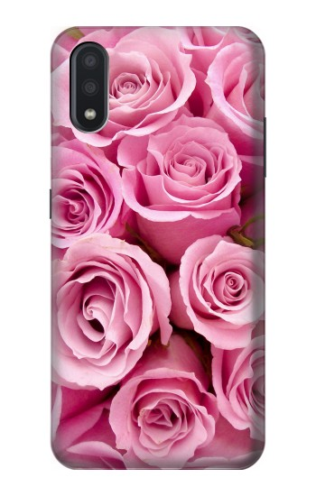 Printed Pink Rose Samsung Galaxy A01 Case