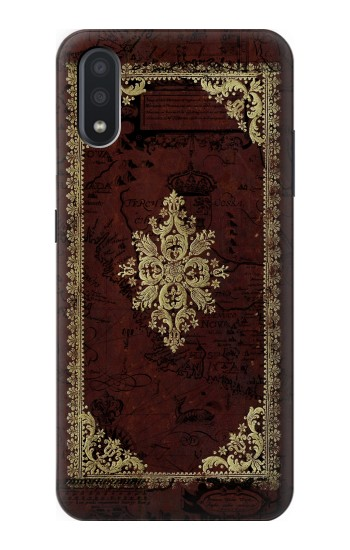 Printed Vintage Map Book Cover Samsung Galaxy A01 Case