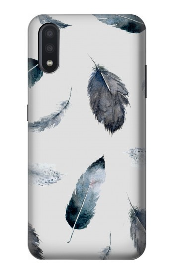 Printed Feather Paint Pattern Samsung Galaxy A01 Case