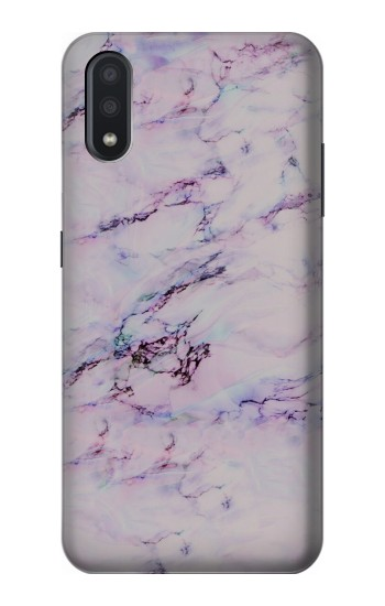 Printed Seamless Pink Marble Samsung Galaxy A01 Case