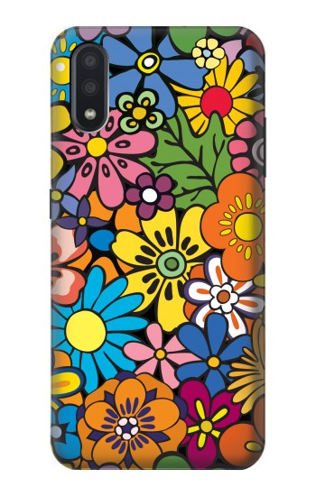 Printed Colorful Flowers Pattern Samsung Galaxy A01 Case