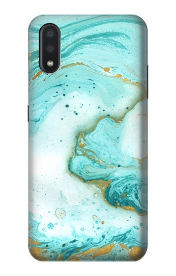 Printed Green Marble Graphic Print Samsung Galaxy A01 Case