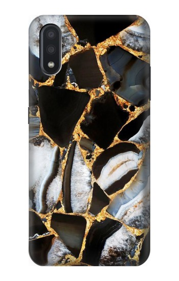 Printed Gold Marble Graphic Print Samsung Galaxy A01 Case