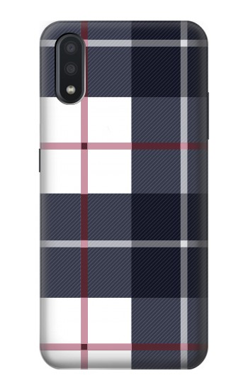 Printed Plaid Fabric Pattern Samsung Galaxy A01 Case