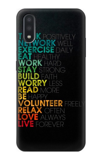Printed Think Positive Words Quotes Samsung Galaxy A01 Case