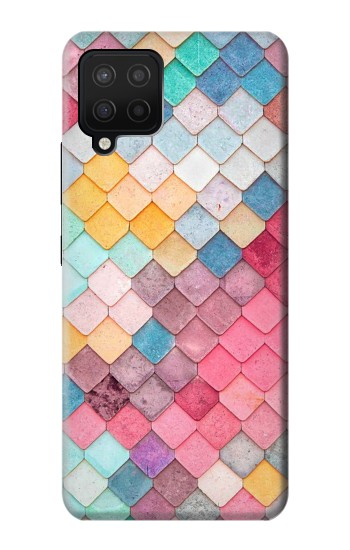 Printed Candy Minimal Pastel Colors Samsung Galaxy A12 Case