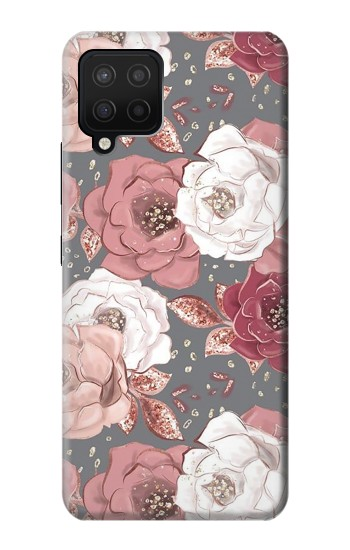 Printed Rose Floral Pattern Samsung Galaxy A12 Case