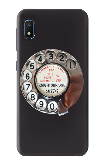 Printed Retro Rotary Phone Dial On Samsung Galaxy A10e Case