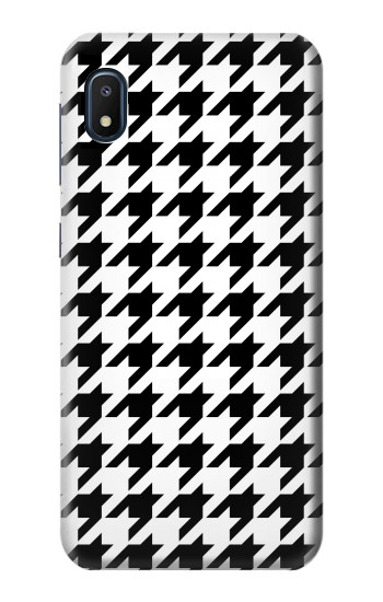 Printed Black White Houndstooth Monogram Pattern Samsung Galaxy A10e Case