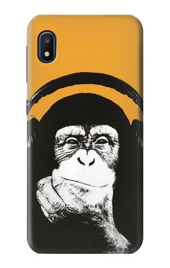 Printed Funny Monkey with Headphone Pop Music Samsung Galaxy A10e Case