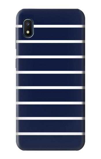 Printed Navy White Striped Samsung Galaxy A10e Case