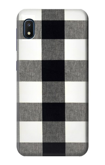 Printed Black and White Buffalo Check Pattern Samsung Galaxy A10e Case