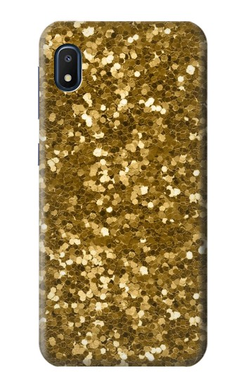 Printed Gold Glitter Graphic Print Samsung Galaxy A10e Case
